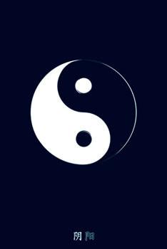 Plakát Yin Yahng - b&w