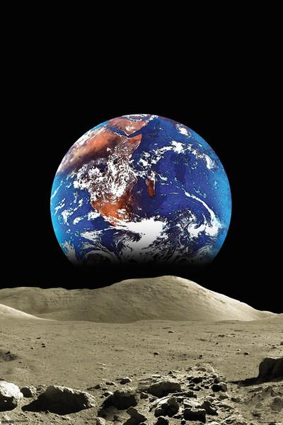 Plakát Země z měsíce