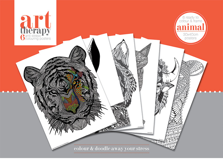 Plakaty do kolorowania Art Therapy - Animal