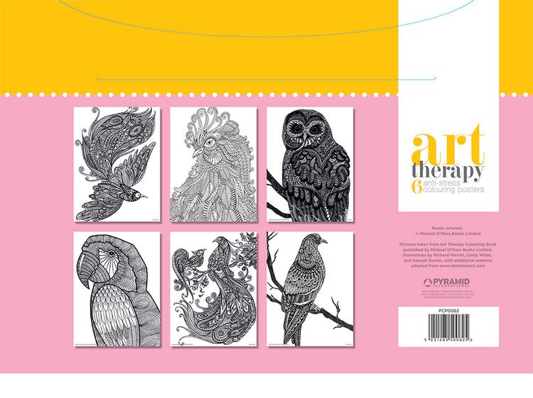 Plakaty do kolorowania Art Therapy - Bird