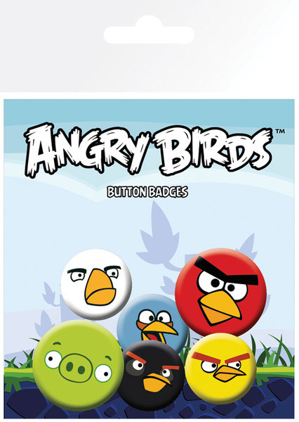 Plakietki zestaw Angry Birds - Faces
