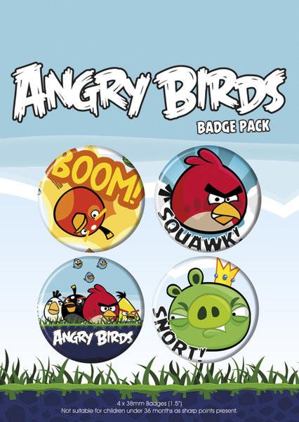Plakietki zestaw ANGRY BIRDS - pack 1