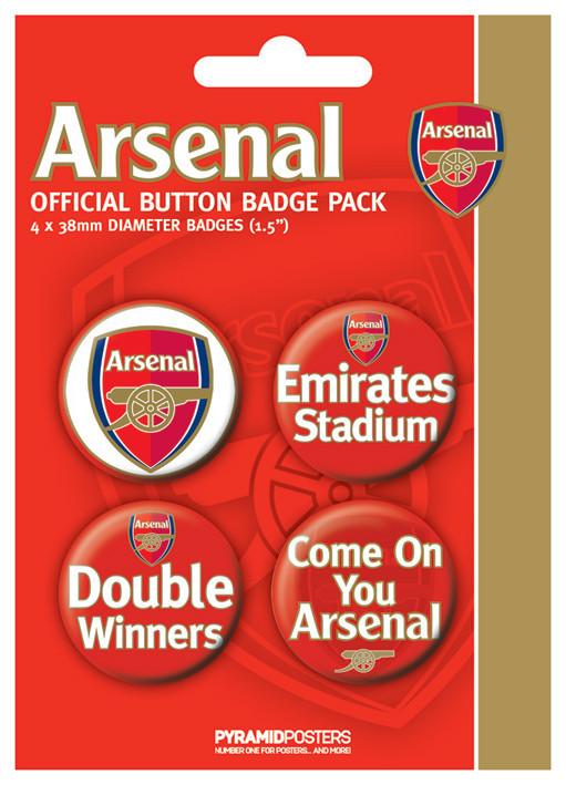 Plakietki zestaw ARSENAL FC - d. winner