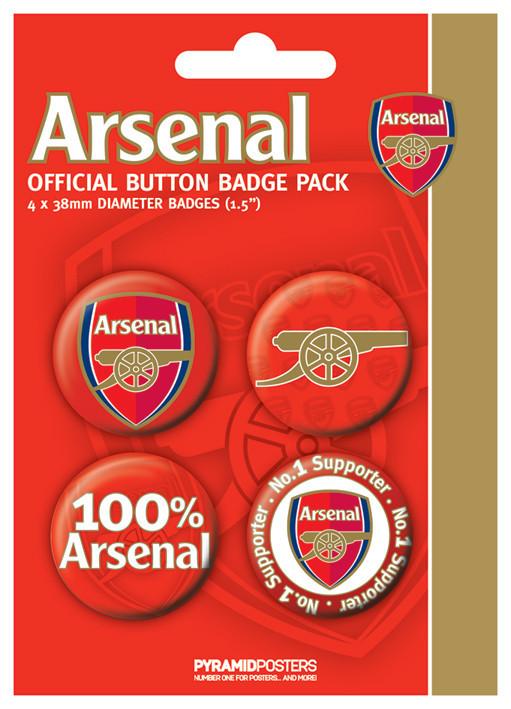 Plakietki zestaw ARSENAL FC - number