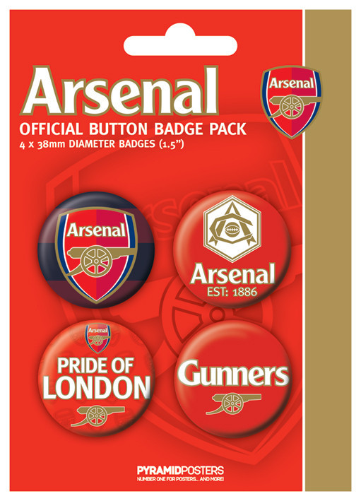 Plakietki zestaw ARSENAL FC - pride