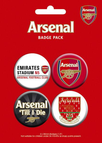 Plakietki zestaw ARSENAL - pack 2