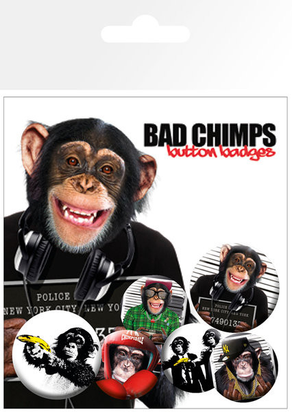 Plakietki zestaw BAD CHIMPS
