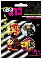 Plakietki zestaw BEAR13 - Bad taste bears