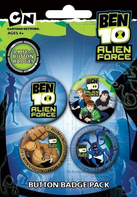 Plakietki zestaw BEN 10 - fuerza ajena