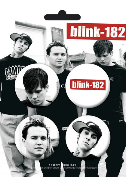 Plakietki zestaw BLINK 182 - Band