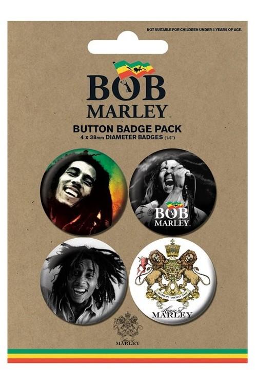 Plakietki zestaw BOB MARLEY - photos