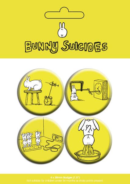 Plakietki zestaw BUNNY SUICIDES - dawn of