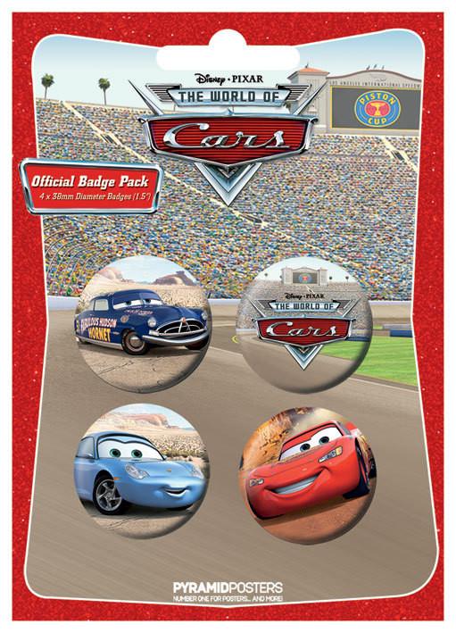 Plakietki zestaw CARS 1