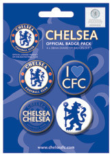 Plakietki zestaw CHELSEA FOOTBALL CLUB