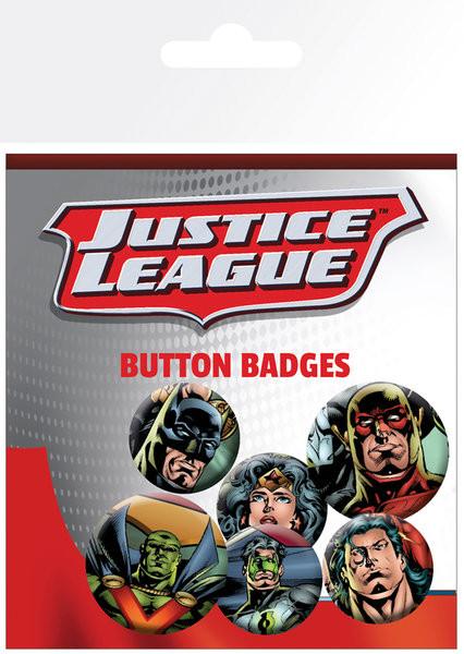 Plakietki zestaw DC Comics - Justice League - League