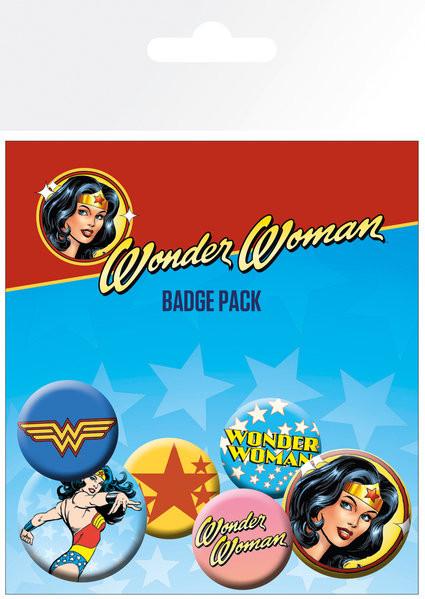 Plakietki zestaw DC Comics - Wonder Woman