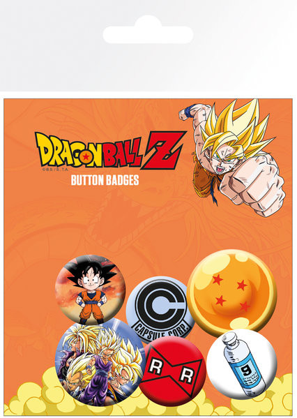 Plakietki zestaw Dragon Ball Z - Mix