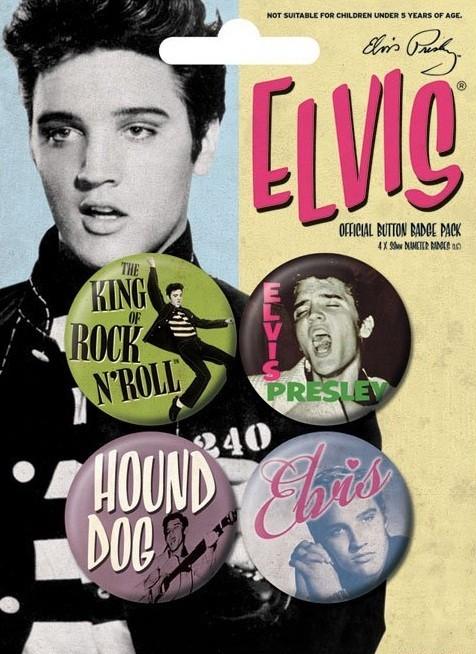 Plakietki zestaw ELVIS PRESLEY - young