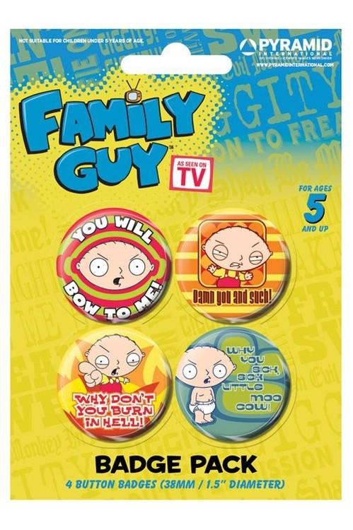 Plakietki zestaw FAMILY GUY - stewie