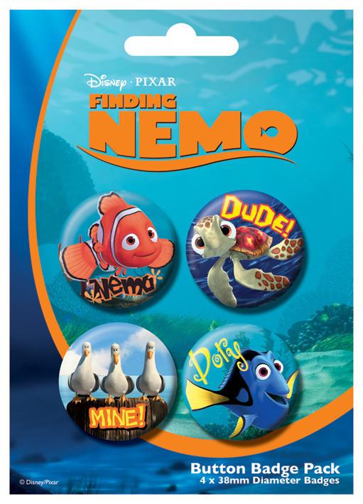 Plakietki zestaw FINDING NEMO