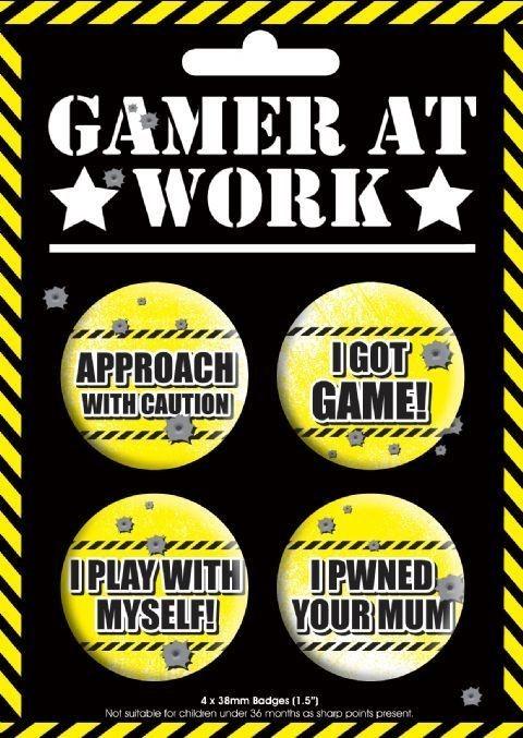 Plakietki zestaw GAMING