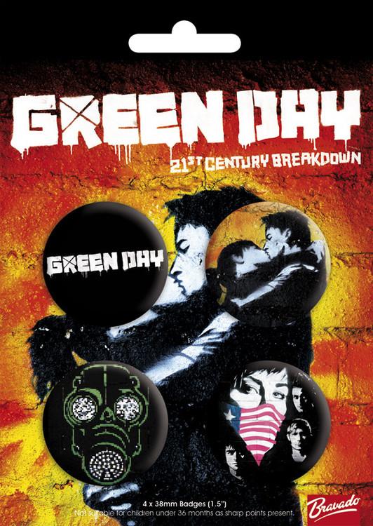 Plakietki zestaw GREEN DAY - bravado