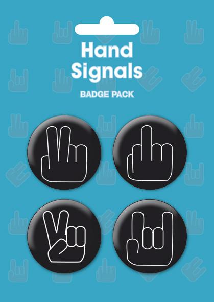 Plakietki zestaw HAND SIGNALS