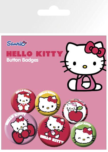 Plakietki zestaw Hello Kitty – Classic