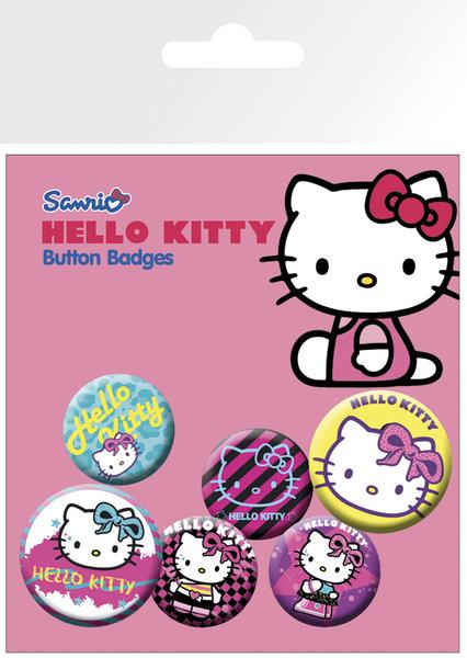 Plakietki zestaw Hello Kitty - Nu Rave