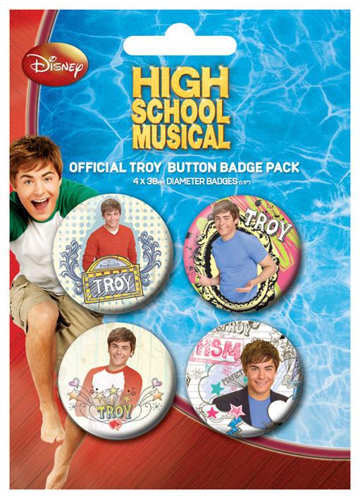 Plakietki zestaw HIGH SCHOOL MUSICAL - Troy