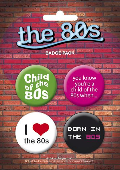Plakietki zestaw I LOVE THE 80'S