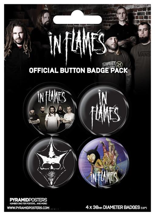 Plakietki zestaw IN FLAMES