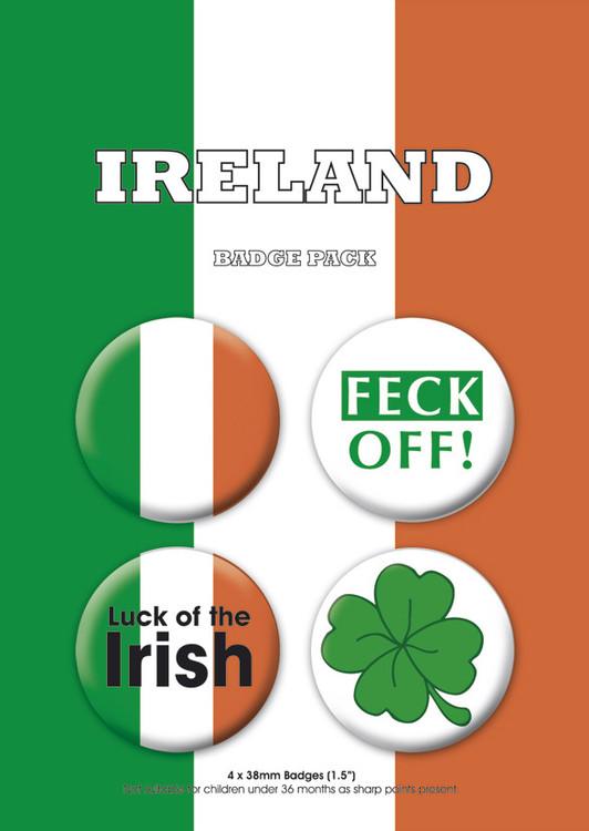 Plakietki zestaw  IRELAND