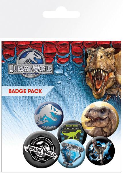 Plakietki zestaw Jurassic World - Mix