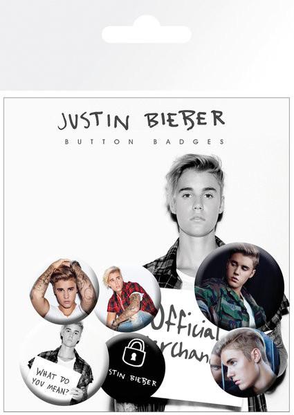 Plakietki zestaw Justin Bieber - Mix 2