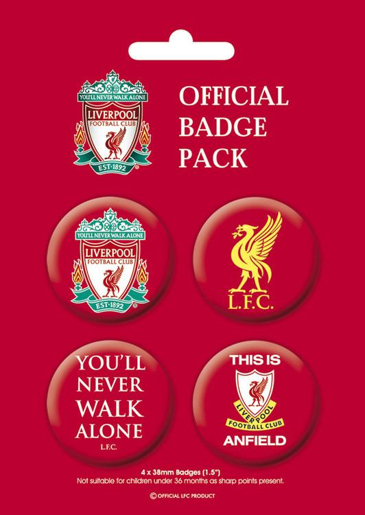 Plakietki zestaw LIVERPOOL Pack 1
