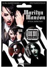 Plakietki zestaw MARILYN MANSON