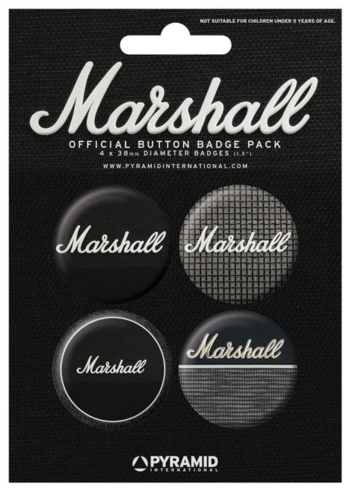 Plakietki zestaw MARSHALL - amps