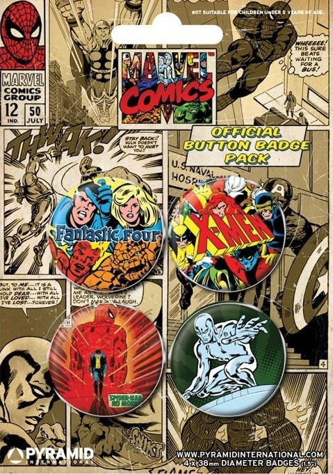 Plakietki zestaw MARVEL COMICS 1