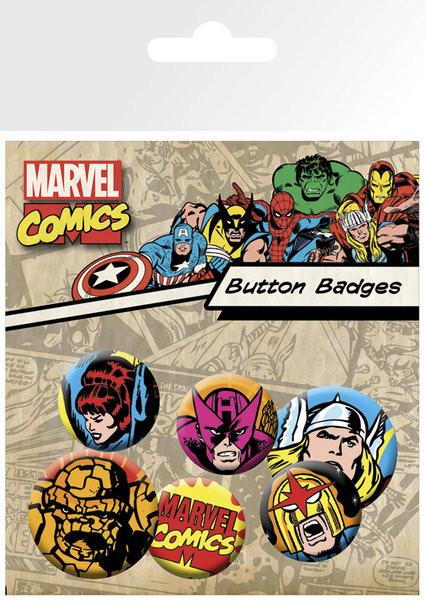 Plakietki zestaw MARVEL - superheroes