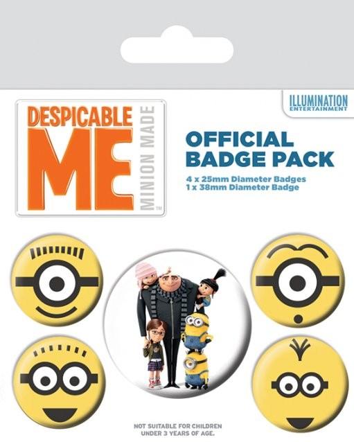Plakietki zestaw Minionki (Despicable Me) - Minionki