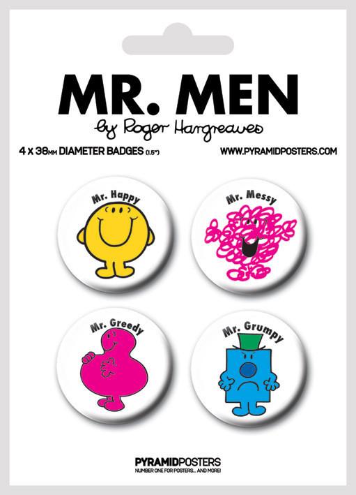 Plakietki zestaw MR MEN