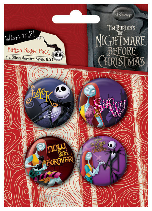 Plakietki zestaw NIGHTMARE - Jack and Sally