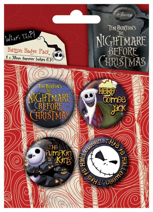 Plakietki zestaw NIGHTMARE - Jack
