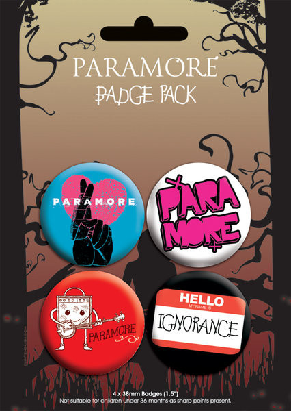 Plakietki zestaw PARAMORE - pack 2