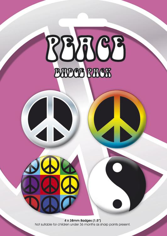 Plakietki zestaw PEACE GB Pack