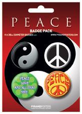 Plakietki zestaw PEACE