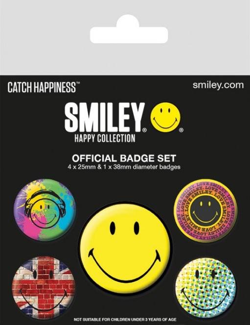 Plakietki zestaw Smiley - Classic