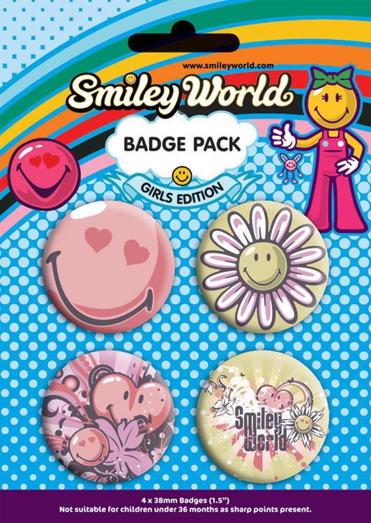 Plakietki zestaw SMILEY - girls pack