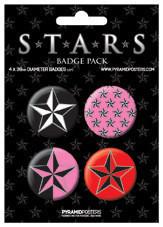 Plakietki zestaw STARS
